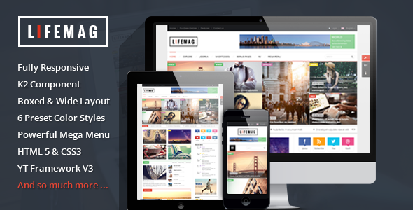 ThemeForest LifeMag Responsive Magazine Joomla Template 10040507