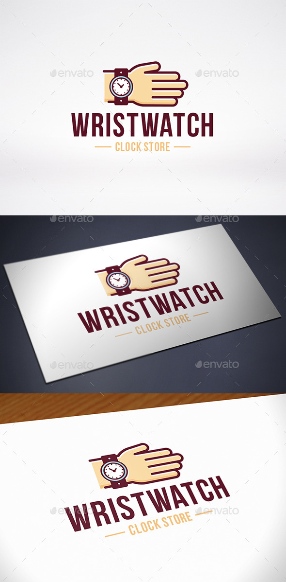 Hand Wristwatch Store Logo Template