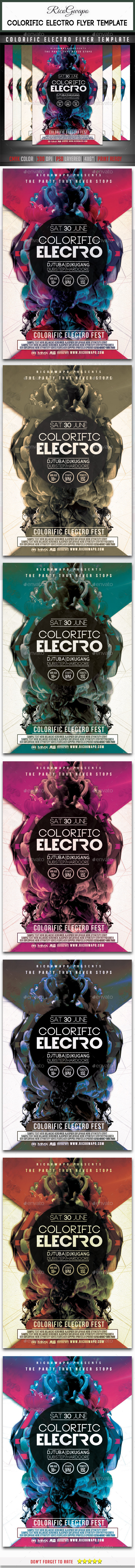 GraphicRiver Colorific Electro Flyer Template 10436067