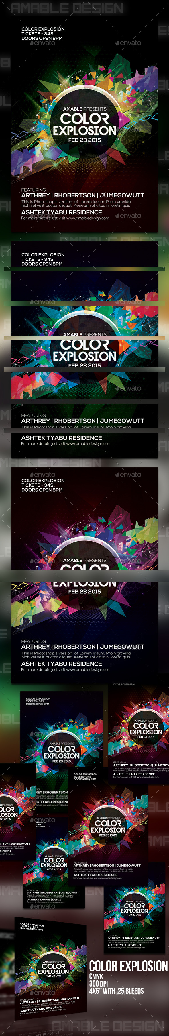 GraphicRiver Color Explosion Flyer 10436144