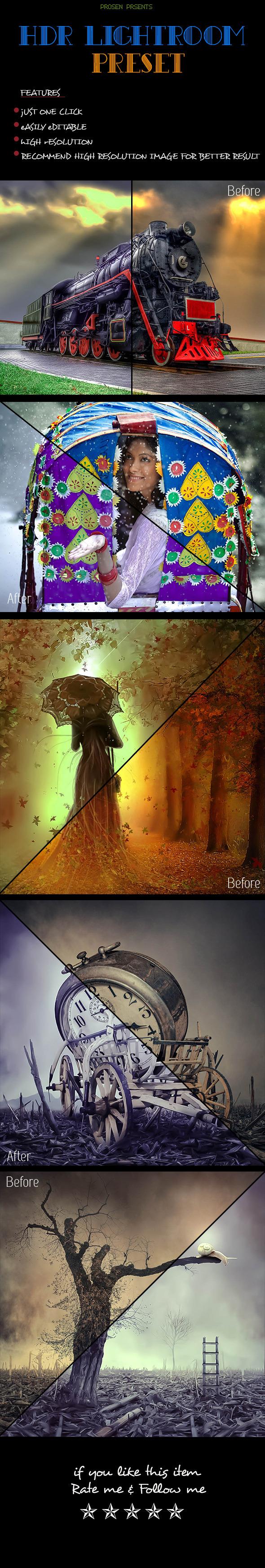 GraphicRiver HDR Lightroom Preset 10436148