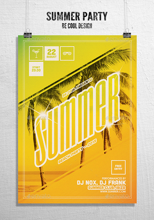 GraphicRiver Summer Party Flyer Poster 10436166