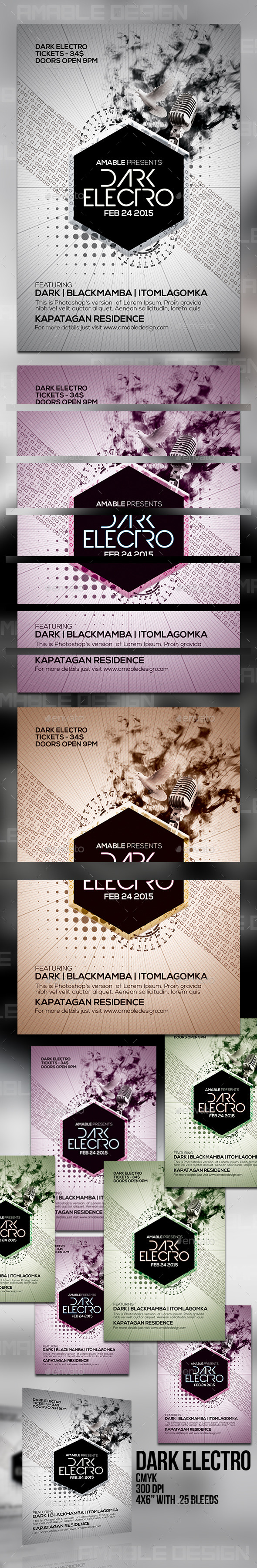 GraphicRiver Dark Electro Flyer 10436188