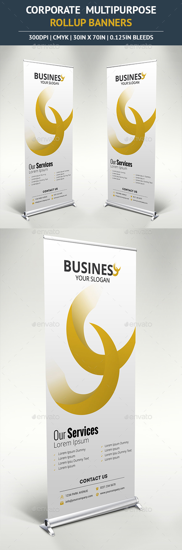 GraphicRiver Corporate Rollup Banner vol5 10390484