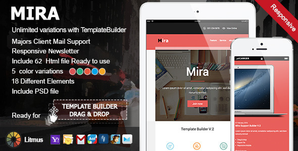 ThemeForest Mira Responsive Email & Template Builder Access 10436285