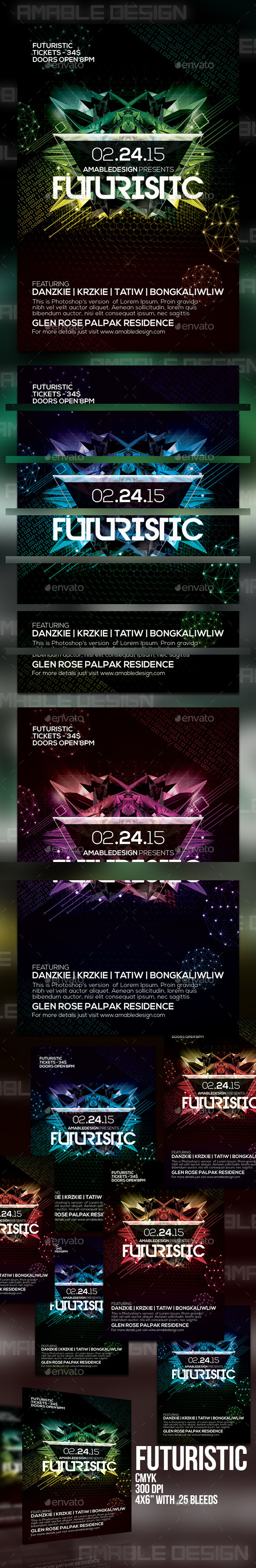 GraphicRiver Futuristic Flyer 10436336