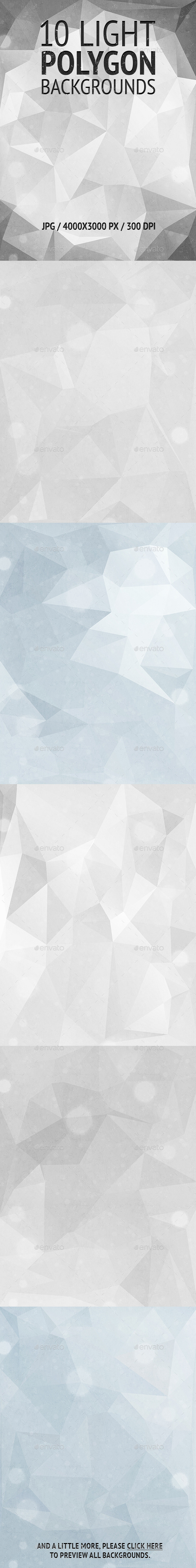 10 Light Polygon Backgrounds