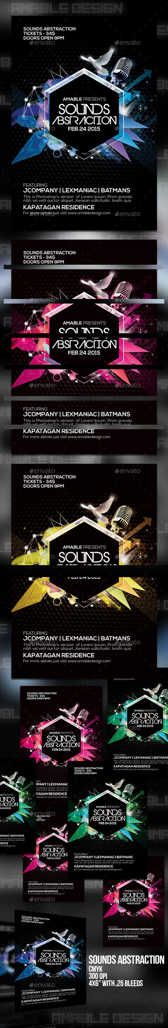 GraphicRiver Sounds Abstraction Flyer 10436402