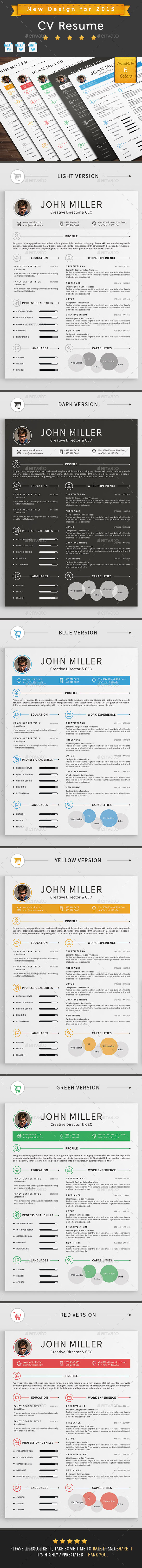 GraphicRiver CV Resume 10436406