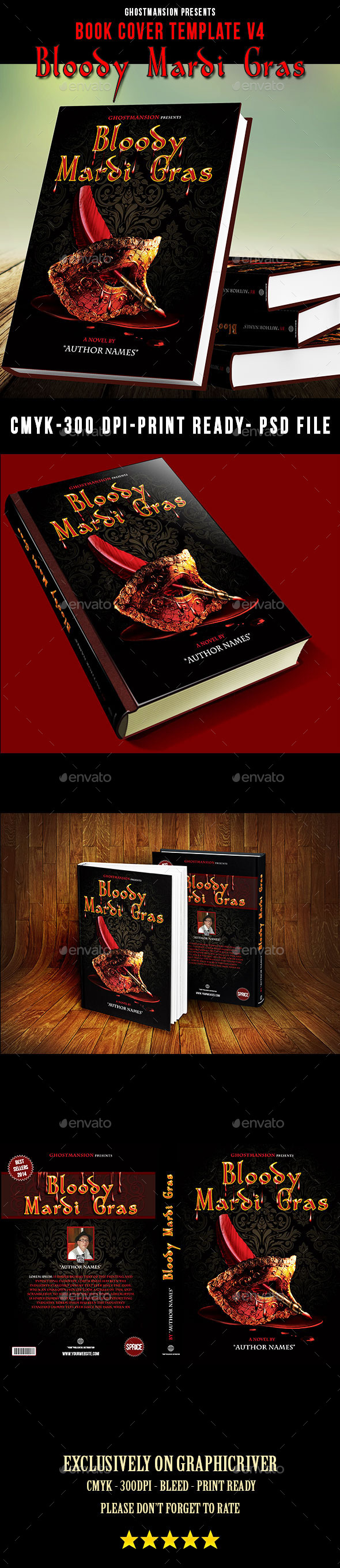 Book Cover Template V4