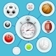Realistic Sport balls and Stopwatch - GraphicRiver Item for Sale