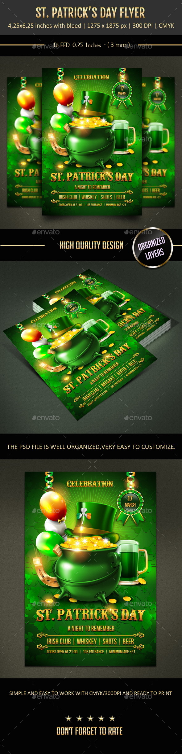 GraphicRiver St Patrick s Day Flyer 10394943