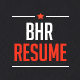 BHR Resume  - GraphicRiver Item for Sale
