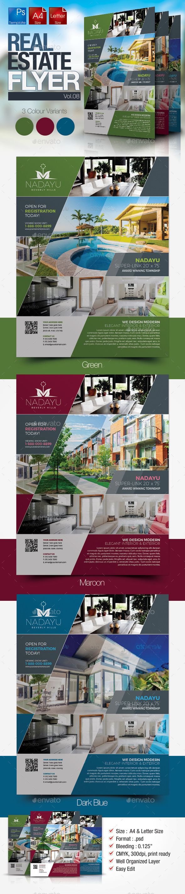GraphicRiver Simple Real Estate Flyer Vol.08 10436929