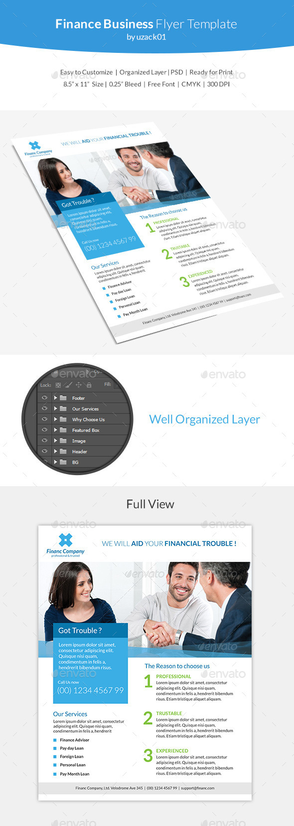 GraphicRiver Finance Business Flyer Template 10437414
