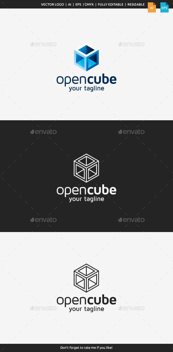 GraphicRiver Open Cube Logo 10437898