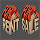 House For Rent And Sale Icon (2-Pack) - VideoHive Item for Sale
