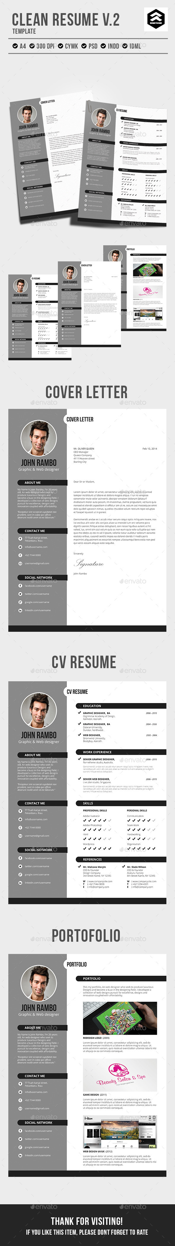 GraphicRiver Clean Resume vol.2 10438130