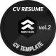 Clean Resume vol.2 - GraphicRiver Item for Sale
