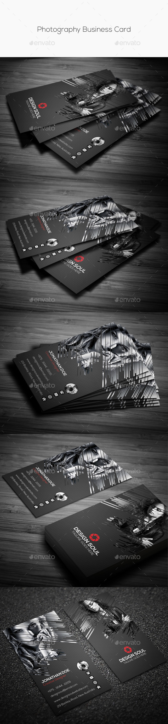 GraphicRiver Photography Business Card 10438153