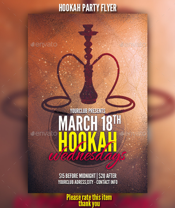 GraphicRiver Hookah Party Flyer 10438159