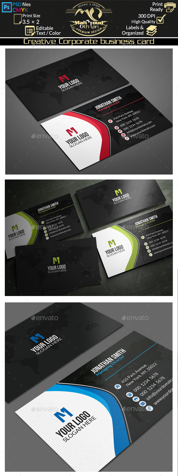Creative Corporate Business Card 71