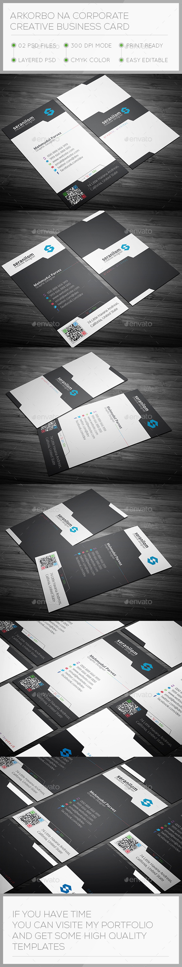 Arkorbona Corporate Creative Business Card