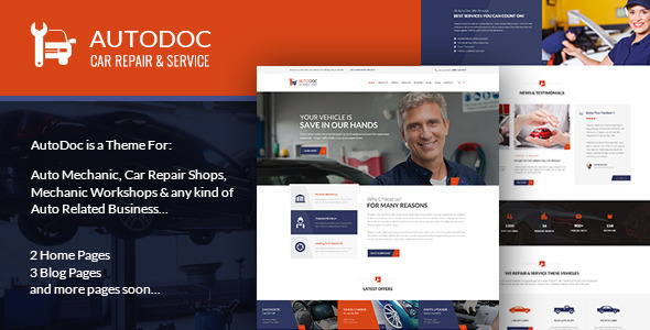 ThemeForest AutoDoc PSD Template 10379648
