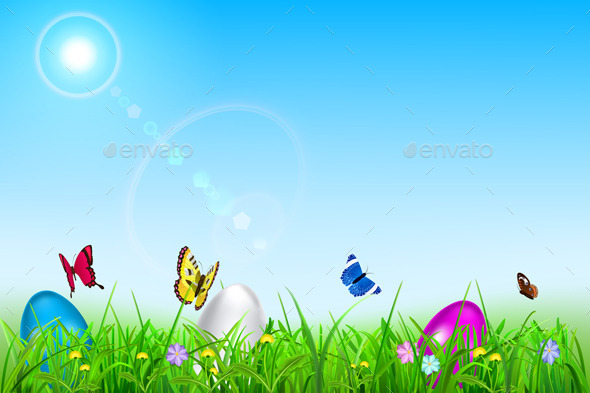GraphicRiver Easter Background 10439018