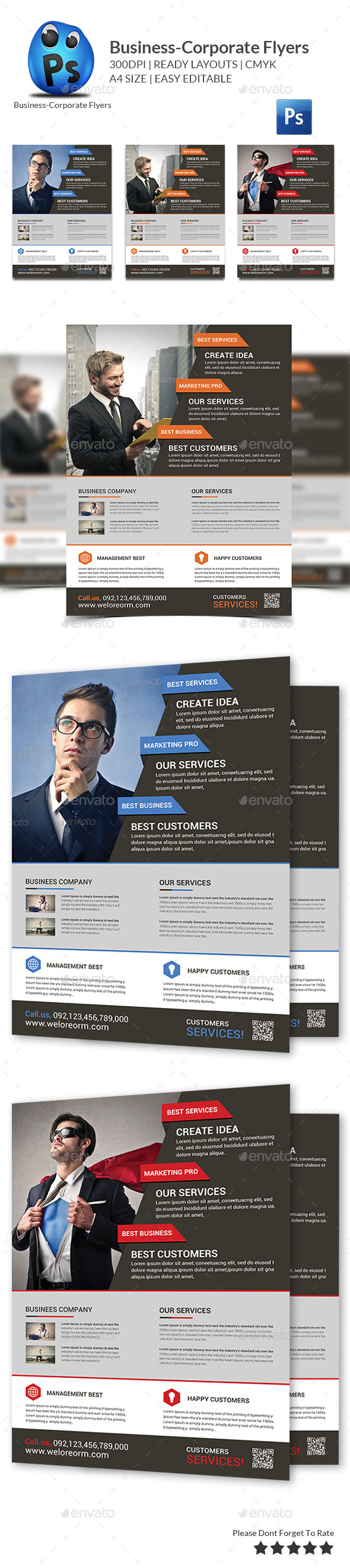 GraphicRiver Corporate Business Flyer Template 10439137