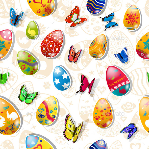 GraphicRiver Seamless Pattern of Easter Eggs 10439148