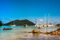 Yachts Marina at Praslin island Seychelles - PhotoDune Item for Sale