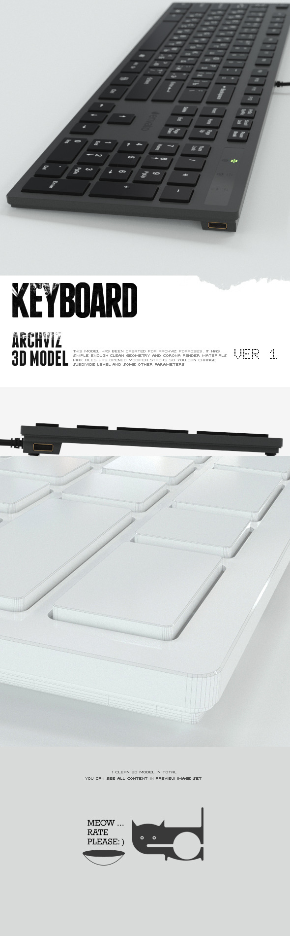 3DOcean Keyboard 10439393