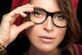 Gorgeous Young Woman Face with Eyeglasses. Cool Trendy Eyewear P - PhotoDune Item for Sale