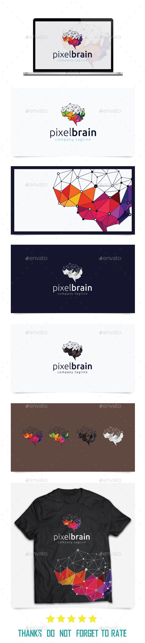 GraphicRiver Pixel Brain Logo Templates 10439856