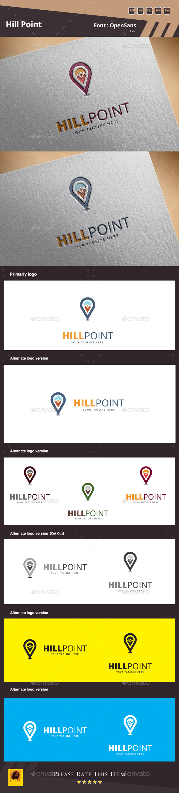 GraphicRiver Hill Point Logo Template 10439961