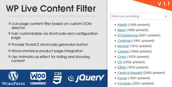 CodeCanyon WP Live Content Filter 10379859