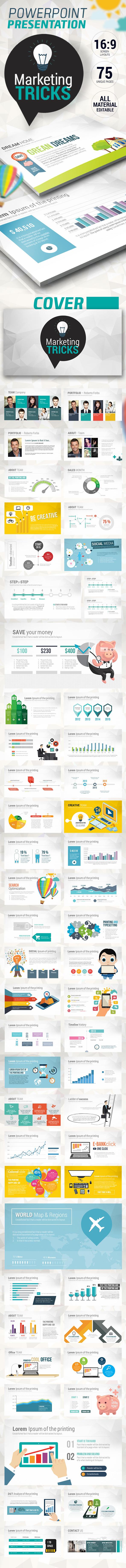 GraphicRiver Fresh Marketing Tricks Presentation 10440013