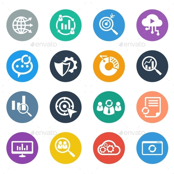 GraphicRiver SEO Icons Circle 10440126