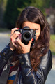 Young woman with DSLR camera - PhotoDune Item for Sale