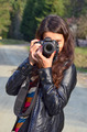 Girl with DSLR camera - PhotoDune Item for Sale