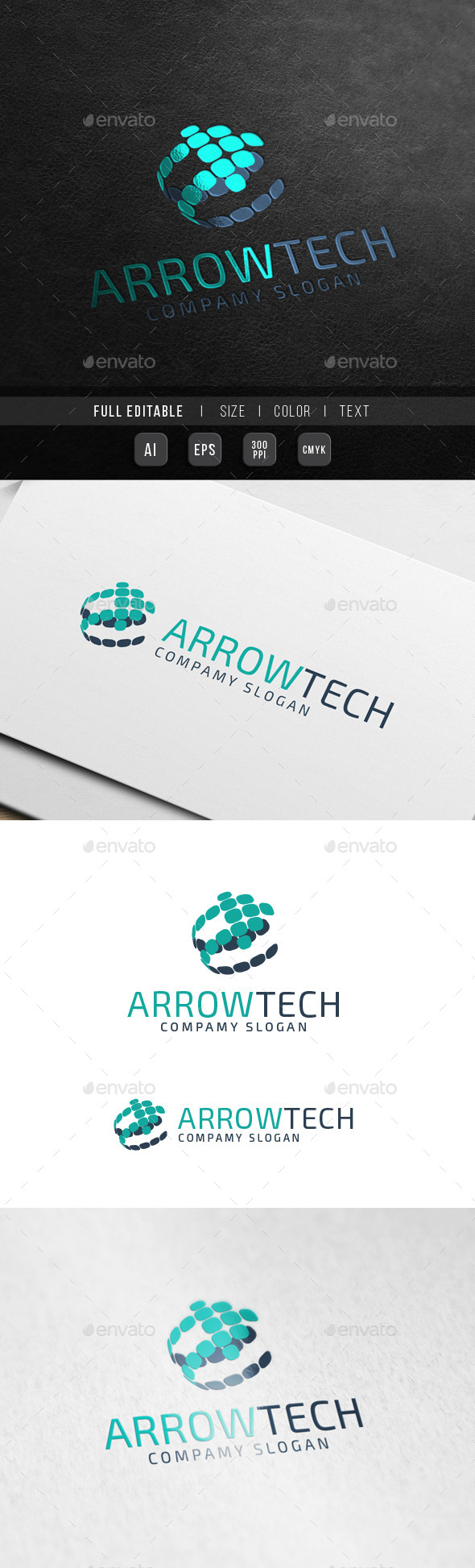 GraphicRiver Global Arrow Technology Music World chart 10440300