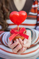 Red Heart Shape In Hands - PhotoDune Item for Sale