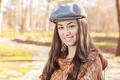 Happy Young Caucasian Woman Portrait Outdoor - PhotoDune Item for Sale