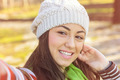Girl Taking Selfie Outdoor - PhotoDune Item for Sale