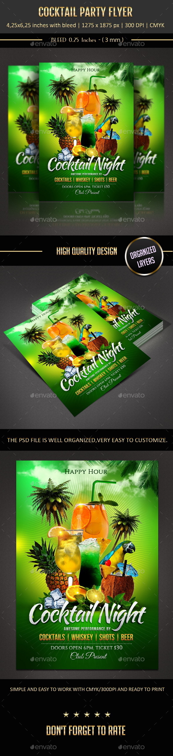 GraphicRiver Cocktail Party Flyer 10440530