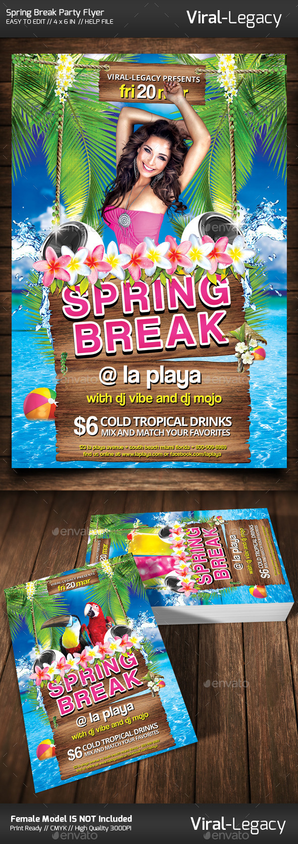 GraphicRiver Spring Break Party Flyer 10440545