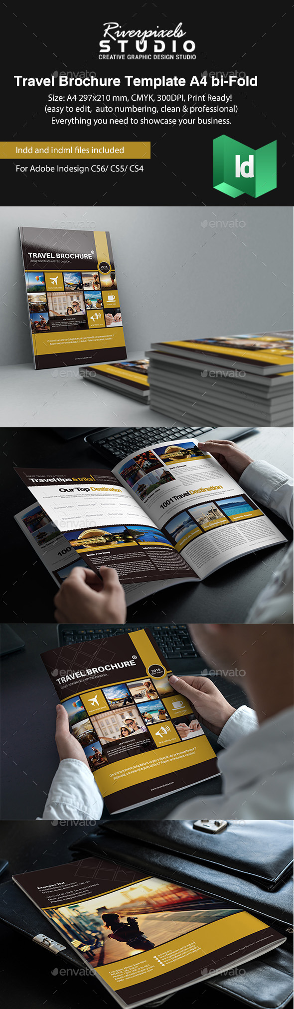 GraphicRiver Travel Brochure Template A4 Bi-Fold 10440925