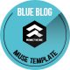 Blue Blog - Muse Blog Theme - ThemeForest Item for Sale
