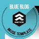 Blue Blog - Muse Blog Theme - ThemeForest Item for Sale